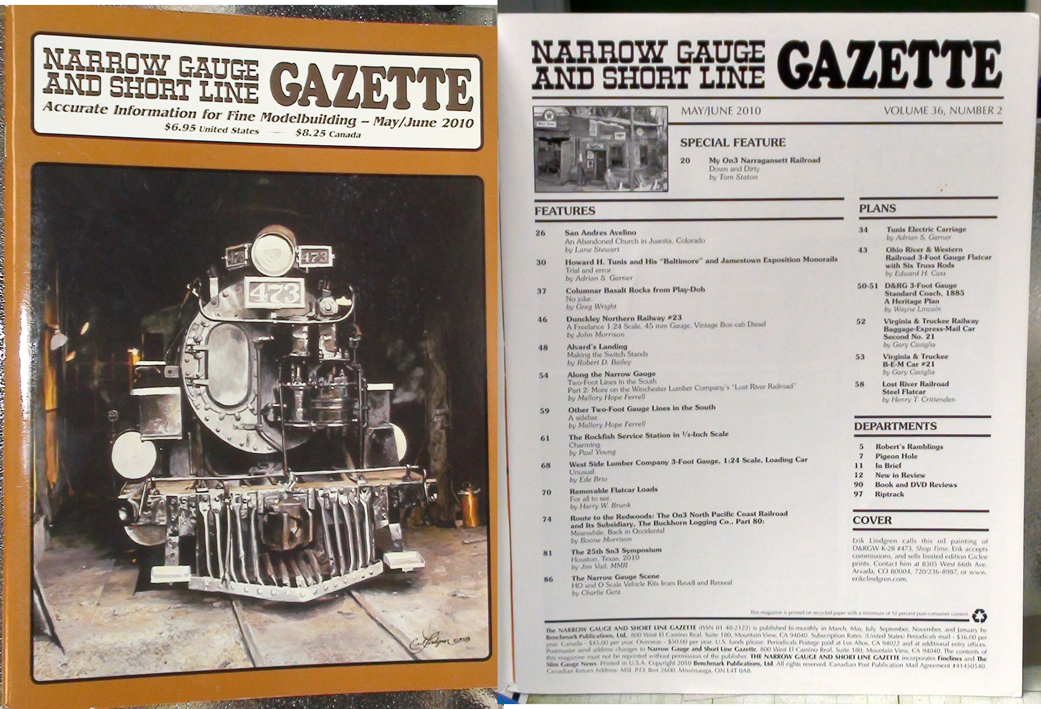 2010 Narrow Gauge & Short Line Gazette Magazine-Individual