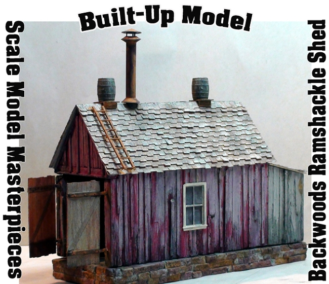 BUILT-UP*BACKWOODS RAMSHACKLE ENGINE SHED SCALE MODEL MASTERPIECES HOn30/HOn3/HO