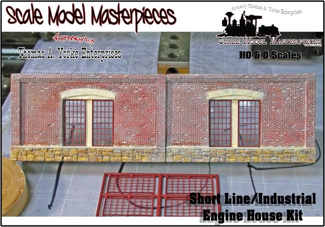 stall shortlineindustrial engine house kit scale model masterpiecesyorke ho