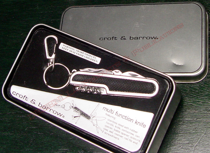 CROFT & BARROW KEY CHAIN MULTI FUNCTION KNIFE/SCISSORS/