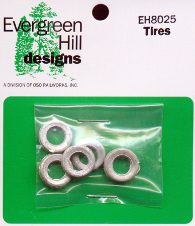 Tires (5pcs) O/On3/On30-Scale Evergreen Hill Designs *NOS*