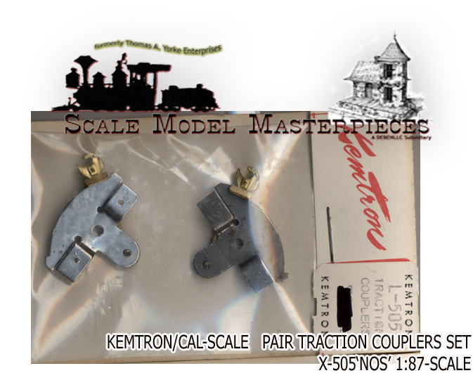 PAIR TRACTION COUPLERS X-505 NOS KEMTRON CAL_SCALE
