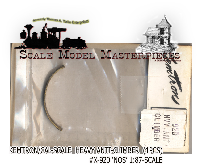 HEAVY ANTI-CLIMBER (BRASS 1pcs)KEMTRON CAL_SCALE HO