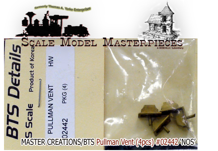 PULLMAN VENTS (4pcs) BTS/Master Creations S/Sn3/Sn2 1:64