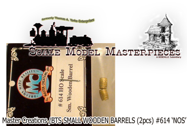 SMALL WOODEN BARREL (2pcs-BRASS) Master Creations/FSM HO/HOn3/HOn30