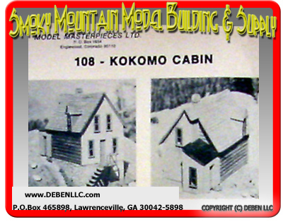 Model Masterpieces Ltd #108 Kokomo Cabin NOS Kit