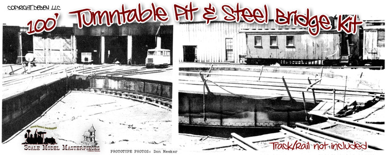 D&RGW Denver 100ft Pit & Steel Turntable NOS Kit Model Masterpieces #121 HO/HOn3