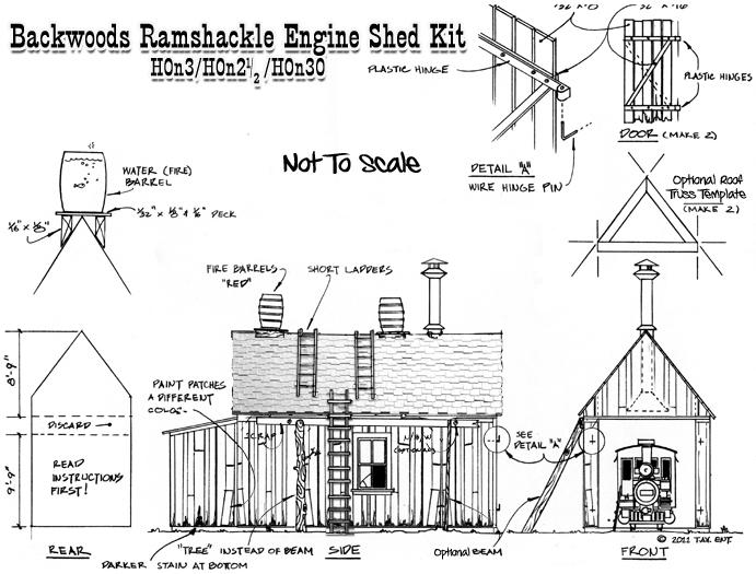 ho Scale Engine Shed Engine Shed Kit-scale