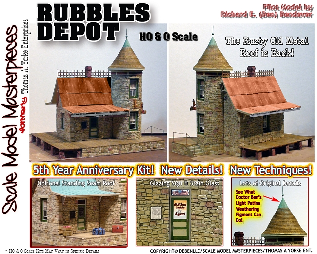 5th Anniversary Rubbles Depot Kit-YORKE/Scale Model Masterpieces HO/HOn3/HOn30