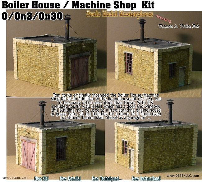 Boiler House / Machine Shop Kit Scale Model Masterpieces/Yorke On3/On30