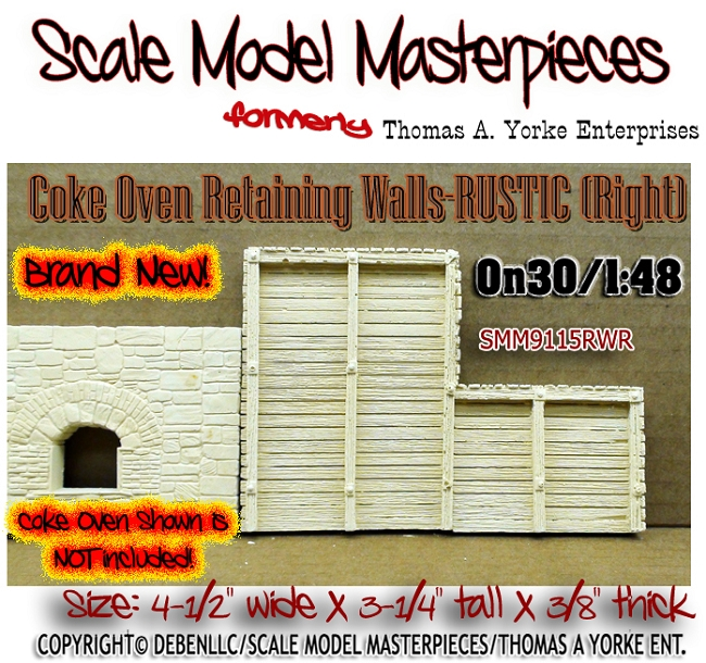 Coke Oven Retaining Walls-RUSTIC (LabStone) Scale Model Masterpieces O/1:48