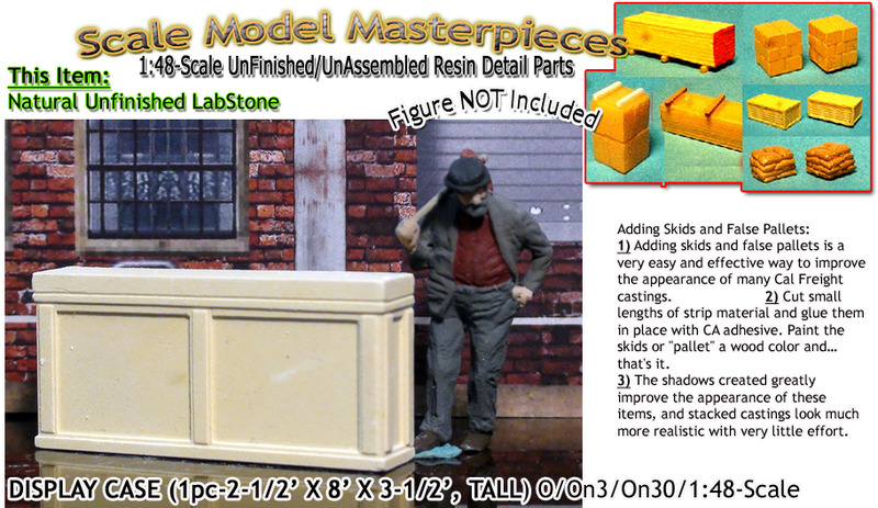 DISPLAY CASE/CABINET-(1pc) O/On3/On30/1:48-YORKE/Scale Model Masterpieces O/On3/On30 1:48/1:43 *NEW*