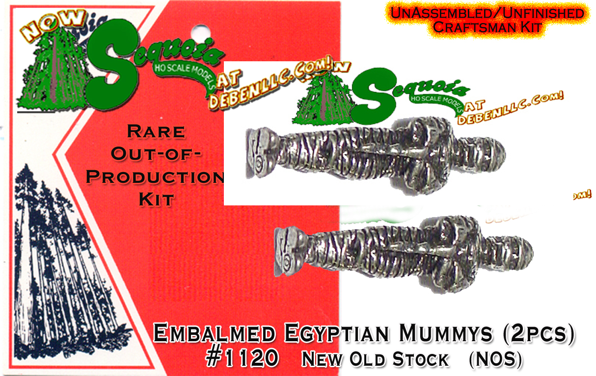 Egyptian Mummys (2pcs)-HO/HOn3HOn2/HOn30 Sequoia Models  *NEW*