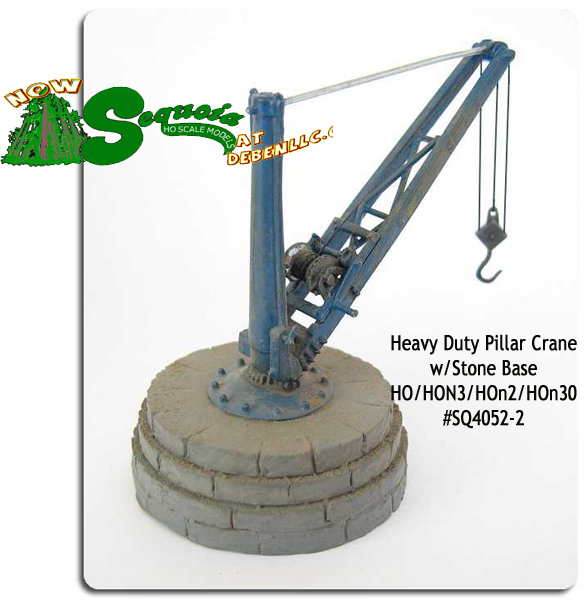 Heavy Duty Pillar Crane 2,000 lb w/Stone Base -HO/HOn3
