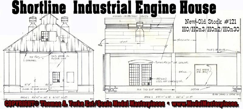 Ho scale engine service facility x426