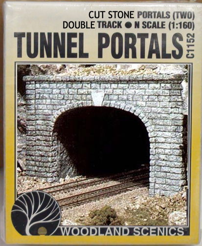 Cut Stone Tunnel Portal 2pcs N Scale Woodland Scenics