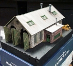 Double Stall Engine House Model *Built-Up* by Richard Ruggles 1;64/S/Sn3/Sn2