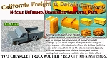 1973 CHEVY PICKUP W/UTILITY BED KIT (1 Kit) N/Nn3-Scale Model /CAL FREIGHT *NEW