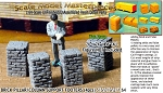 Brick Pillar/Column Support Footers (4pcs-Large) Scale Model Masterpieces S/1:64