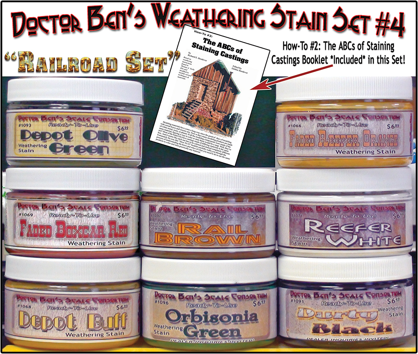 Weathering Stain Set #4 & Booklet #2 & #5533 Junk Pile-Doctor Ben's
