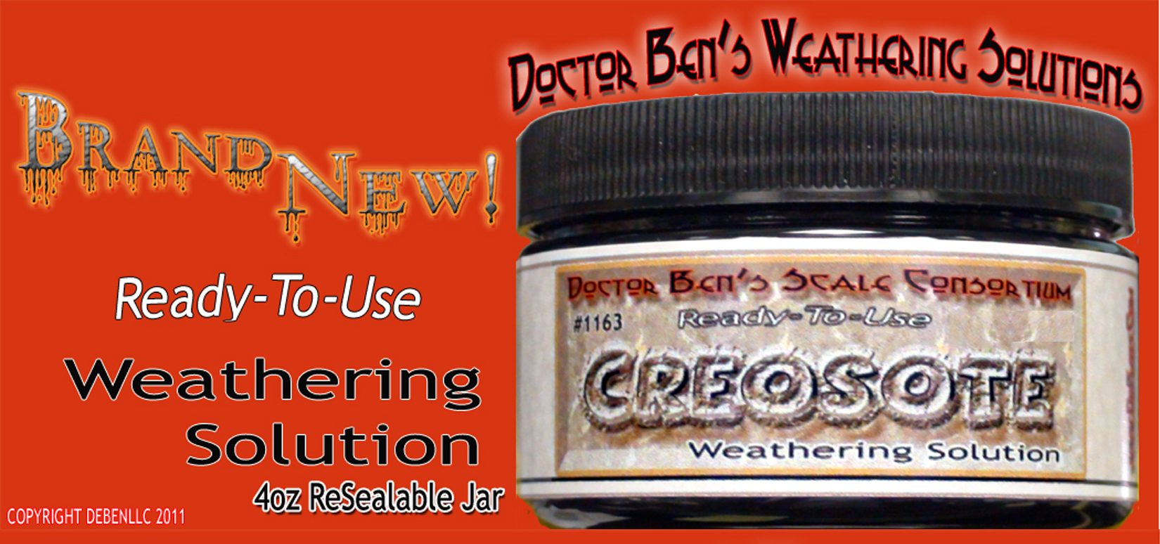 Creosote Weathering Solution 4oz Doctor Ben's Scale Consortium