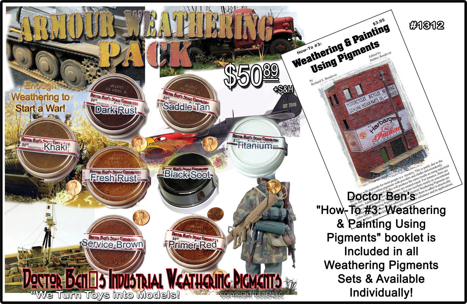 how to fix weathering pigments