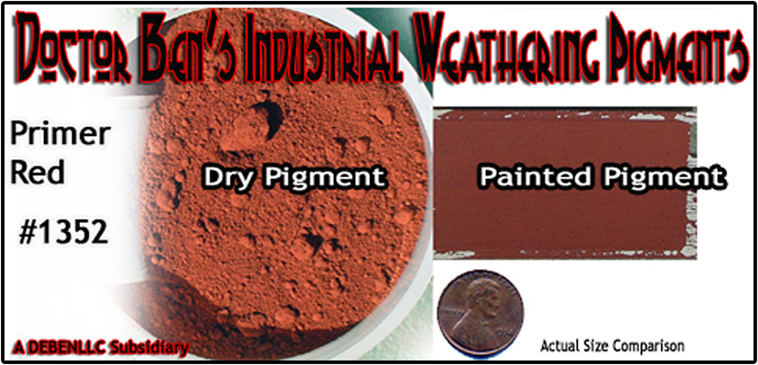 Boxcar Primer Red Weathering Pigment-2oz Doctor Ben's Scale Consortium