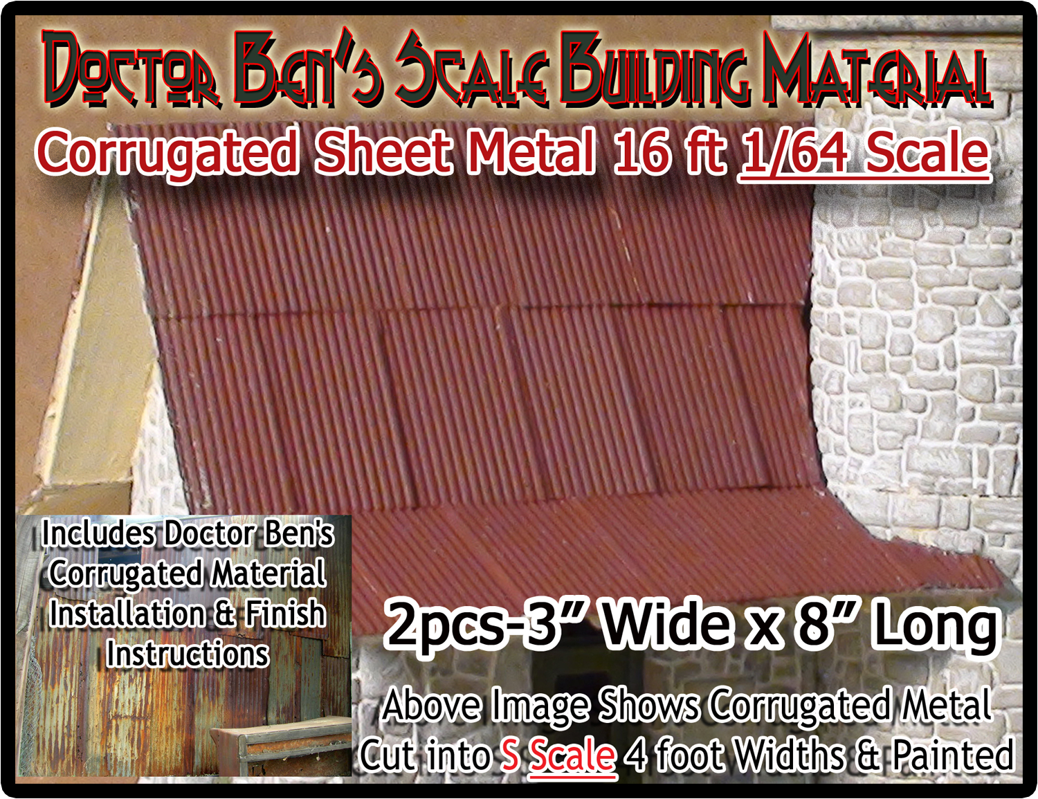 S Corrugated Metal Roofing Siding 2pcs Doctor Ben S