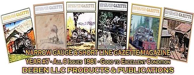 1981 Narrow Gauge & Short Line Gazette Magazine-Individual
