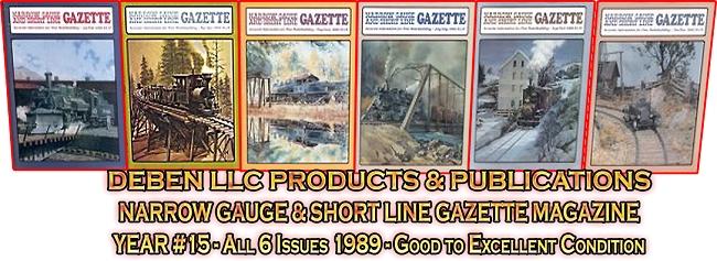 1989 Narrow Gauge & Short Line Gazette Magazine-Individual