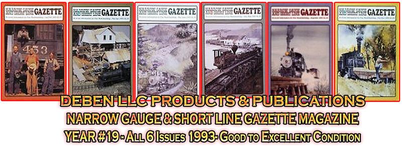 1993 Narrow Gauge & Short Line Gazette Magazine-Individual