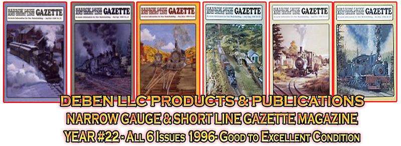 1996 Narrow Gauge & Short Line Gazette Magazine-Individual