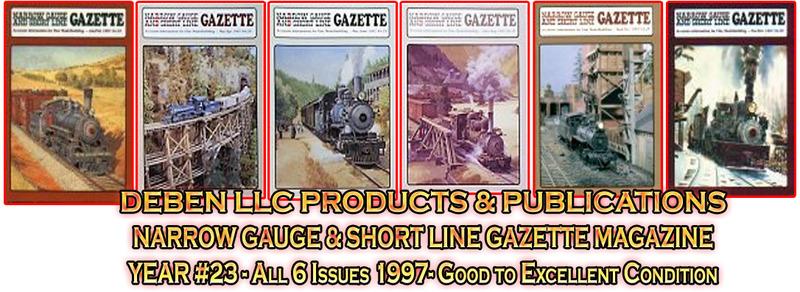1997 Narrow Gauge & Short Line Gazette Magazine-Individual