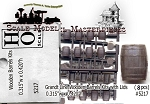 Wooden Barrels with Lid Kit (8kits) Grandt Line HO/1:87