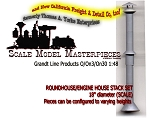 Roundhouse/Enginehouse Chimney/Stack (1lg Kit/Set) Grandt Line O/On3/On30/1:48
