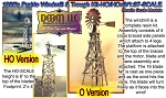 1930's PRAIRIE WINDMILL & WATER TROUGH KIT Muella Models HO/HOn3/HOn30/1:87