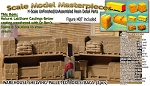 Warehouse Shelving-Pallet Boxes/Sacks Open (2pcs) Scale Model Masterpieces-N/NN3