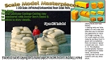 "Stacks 'O Sacks-Laying On Ground  (4pcs-9/16""x9/16""x 7/16"" TALL) Scale Model Masterpieces-N/Nn3 *NEW*"