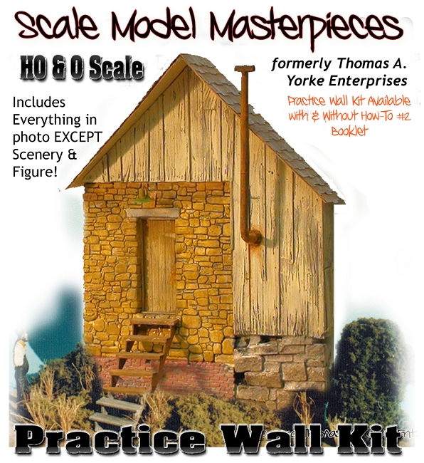 Practice Wall & Details Kit Scale Model Masterpieces/Thomas Yorke HO/HOn3/1;87