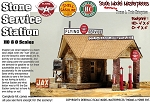 STONE SERVICE STATION (Shell, Sinclair or Flying A) KIT YORKE 1:87 HO/HOn3/HOn30 *NEW Kit*
