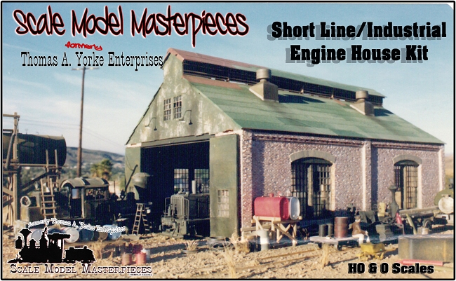 Two Stall Shortline/Industrial Engine House Kit Scale ...