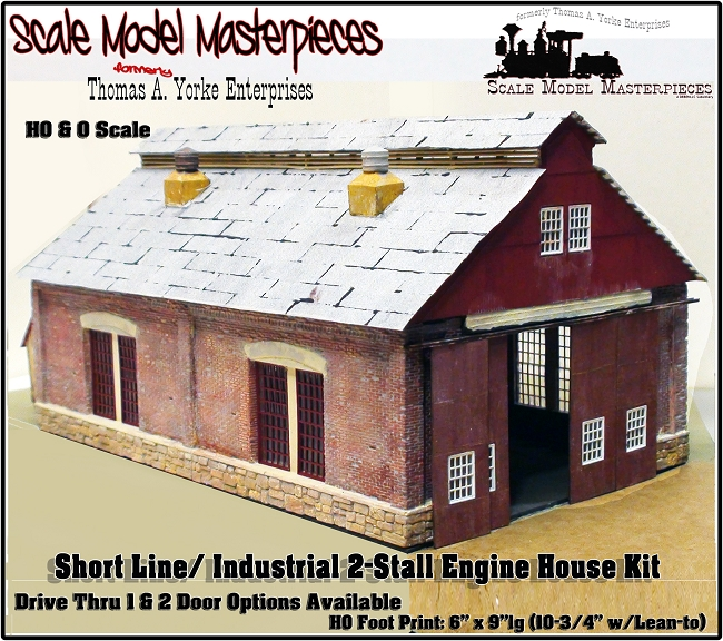 Two Stall Shortline Industrial Engine House Kit Scale