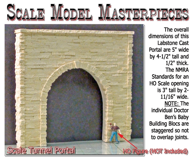 ho scale tunnel portal dimensions