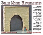 Split Granite Stone Single-Tunnel Portal Scale Model Masterpieces HO/HOn3