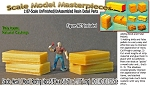 Stacks--Metal / Wood/ Roofing (4pcs)  HO/HOn3/HOn30 Scale Model Masterpieces Multi Scale