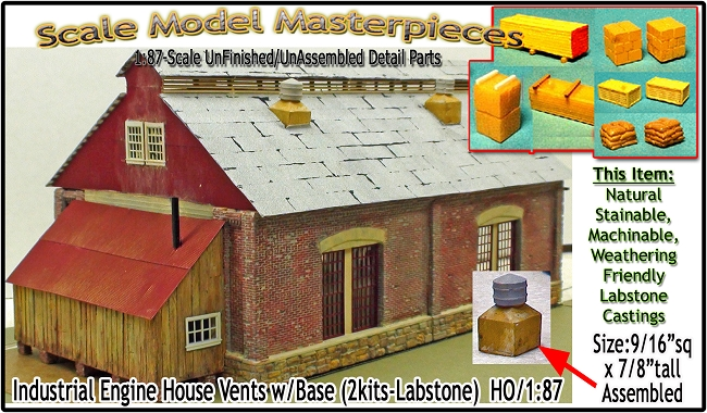 Industrial Engine House Cyclone Power Vent Kit (2kits) Scale Model Masterpieces HO/1:87