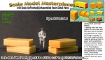 Stacks--Metal / Wood/ Roofing (4pcs) Scale Model Masterpieces S/Sn2/Sn3/Sn42-1:64