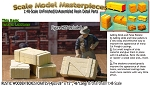 Rustic Wood Crates/Boxes-(4pcs) Scale Model Masterpieces O/On3/On30/1:48
