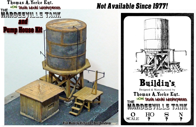 Argent Lumber/ Hardeeville Water Tank & Pump House Kit Scale Model Masterpieces/Yorke 1:48/O