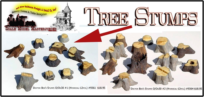 Old Tree Stumps-Large #1 Scale Model Masterpieces Multi Scale